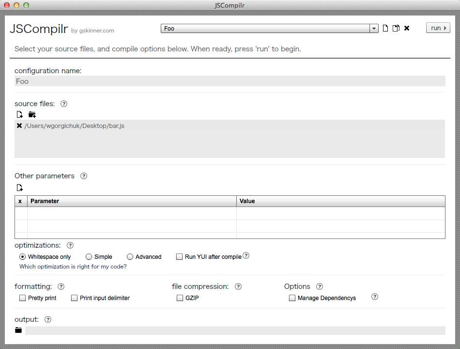 JSCompilr Screenshot