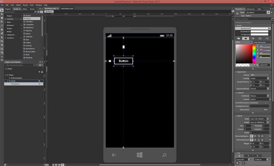 Blend for Visual Studio 2013