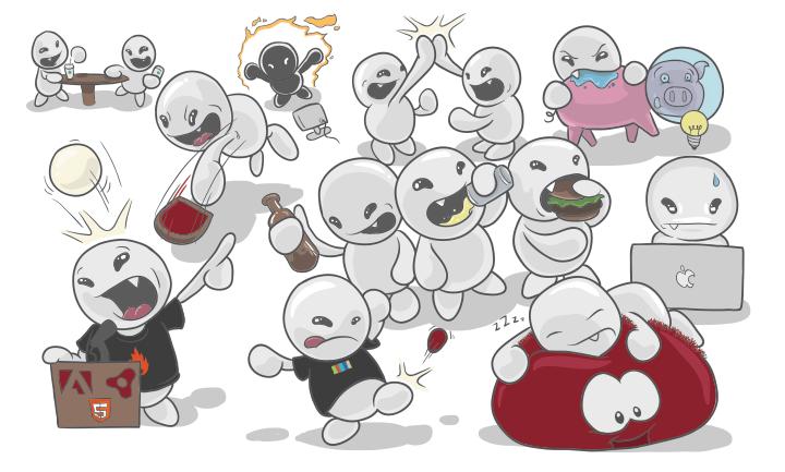 team cartoon