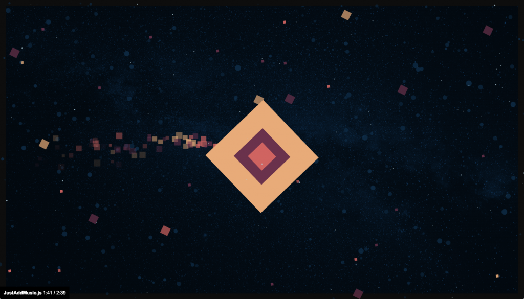 Music Visualizer: Squares in space