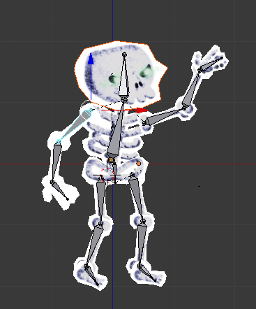 A very dignified skeleton who has yet to be animated.
