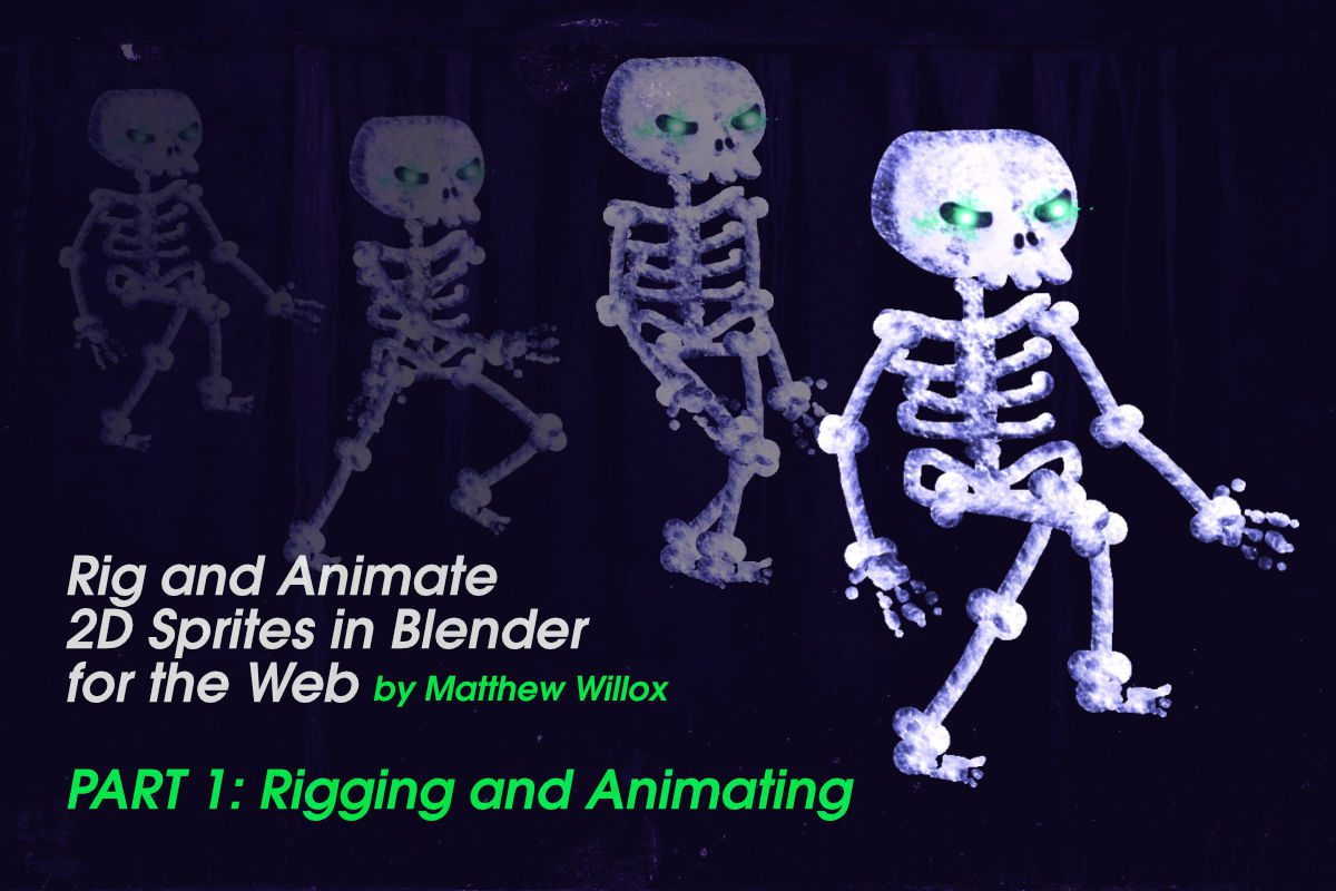 Rig and Animate 2D Sprites in Blender for the Web, Part 1