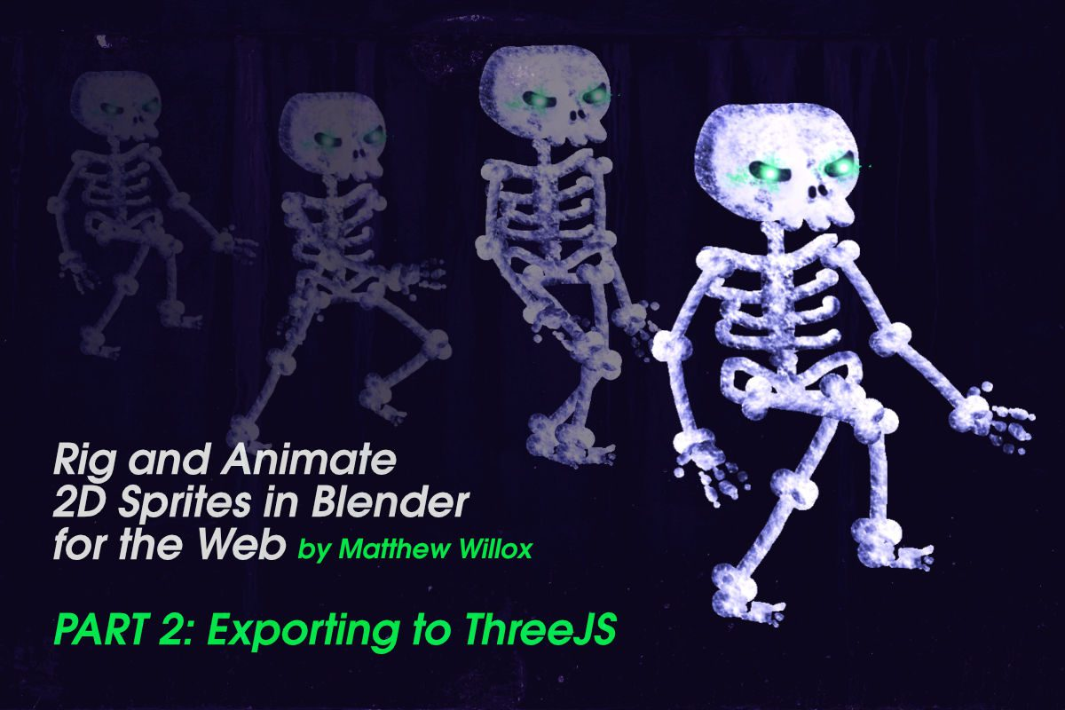 Rig and Animate 2D Sprites in Blender for the Web, Part 2