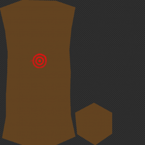 brown UV map for a barrel
