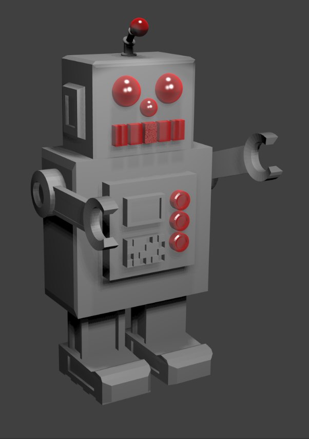 image of rendered model of a robot