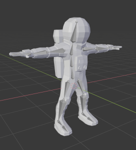 rigged astronaut model