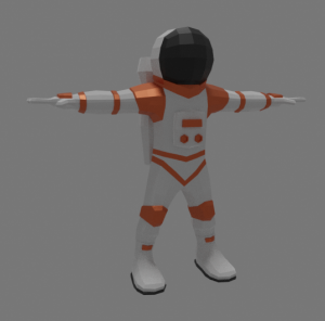 3D model of astronaut in color