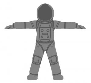 Sketch of astronaut