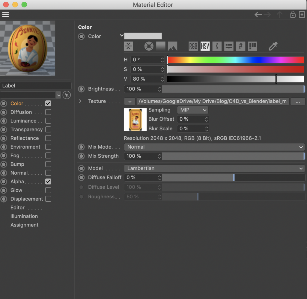 the Material Editor