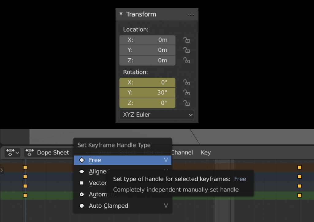 keyframe and dope sheet settings