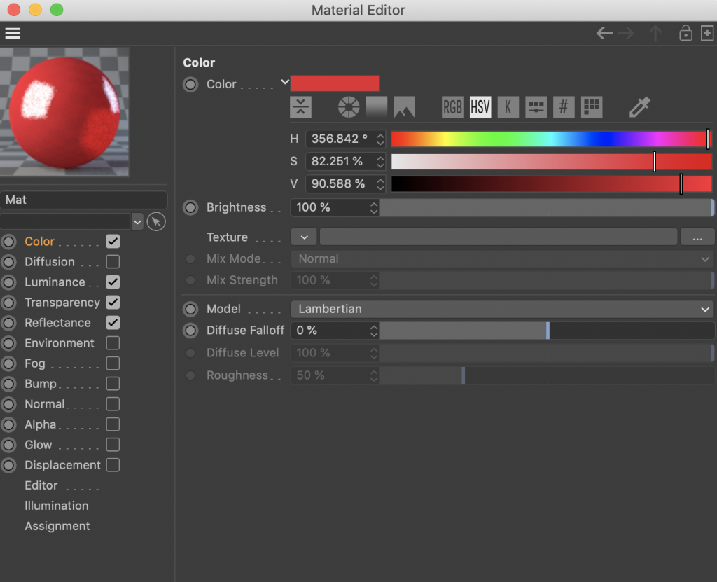 Material editor for glass